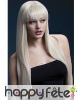 Longue perruque avec frange blonde