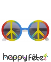Lunettes peace and love, image 1