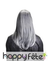 Longue perruque blanche et noire de vampire, image 1