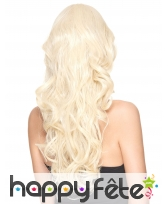 Longue perruque blonde bouclée, luxe, image 1