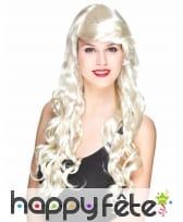 Longue perruque blonde glamour bouclée