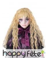 Longue perruque blonde ondulée pour enfant, image 1