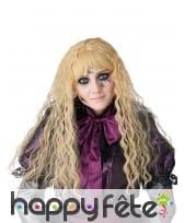 Longue perruque blonde ondulée pour enfant