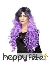 Longue perruque bouclée lila gothique