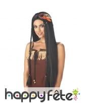 Longue perruque d'indienne
