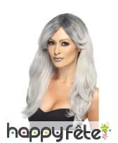 Longue perruque grise glamour