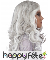 Longue perruque grise phosphorescente pour enfant, image 1