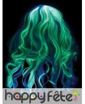 Longue perruque grise phosphorescente pour enfant, image 4