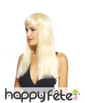 Longue perruque lisse avec frange, image 2