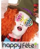 Lunettes psychédélique multicolore adulte