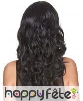 Longue perruque noire 3/4 bouclée, image 2