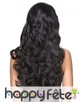 Longue perruque noire bouclée, luxe, image 1