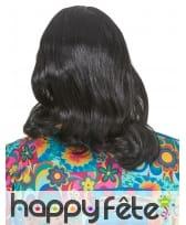 Longue perruque noire de hippie pour homme, image 1