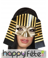 Loup pharaon noir or