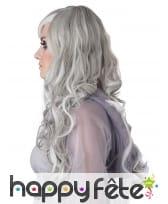 Longue perruque phosphorescente grise pour femme, image 1