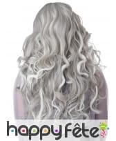 Longue perruque phosphorescente grise pour femme, image 2