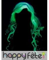 Longue perruque phosphorescente grise pour femme, image 3