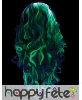 Longue perruque phosphorescente grise pour femme, image 4