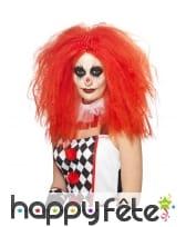 Longue perruque rouge afro de clown