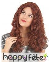 Longue perruque rousse bouclée