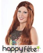 Longue perruque rousse et lisse, image 1