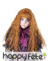 Longue perruque rousse ondulée pour enfant, image 1
