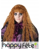Longue perruque rousse ondulée pour enfant