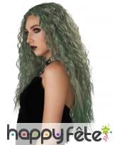Longue perruque verte ondulée pour femme, image 1