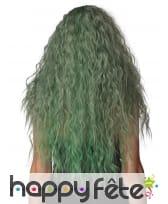 Longue perruque verte ondulée pour femme, image 2