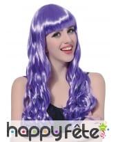 Longue perruque violette ondulée, image 1