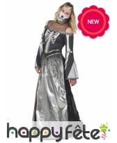 Longue robe au torse squelette pour femme, image 1