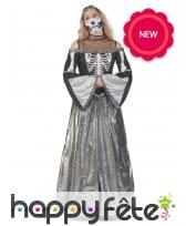 Longue robe au torse squelette pour femme, image 2