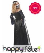 Longue robe au torse squelette pour femme, image 3