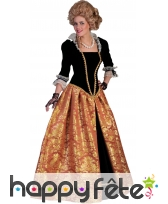 Large robe baroque d'impératrice