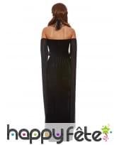 Longue robe bustier noire de femme vampire, image 3