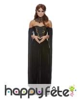 Longue robe bustier noire de femme vampire, image 1