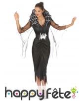 Longue robe cintrée araignée à grand col, image 1