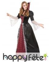 Large robe de vampiresse baroque avec grand col, image 1