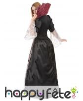 Large robe de vampiresse baroque avec grand col, image 2
