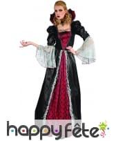Large robe de vampiresse baroque avec grand col, image 3
