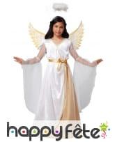 Longue robe d'ange pour enfant, avec ailes