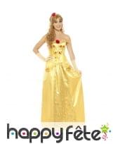 Longue robe de Belle princesse pour femme adulte