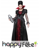 Longue robe de dame vampire rouge et noir, image 1
