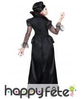 Longue robe de dame vampire rouge et noir, image 3