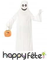Longue robe de fantôme blanc avec cagoule, enfant, image 1