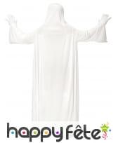 Longue robe de fantôme blanc avec cagoule, enfant, image 2