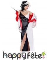 Longue robe de femme cruelle pour adulte