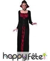 Longue robe de femme vampire imprimé têtes de mort, image 3