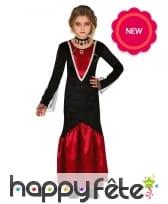 Longue robe de fille vampire pour enfant