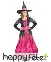Longue robe de petite sorcière rose et noir, image 1